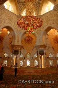 Grand carpet mosque building asia.