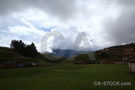 Grass chinchero cloud andes peru.