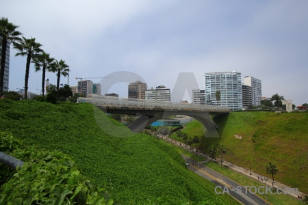 Grass cloud south america lima bridge.