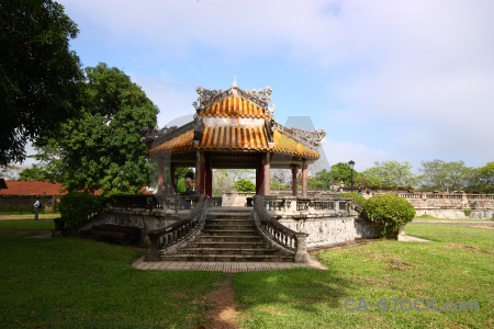 Grass hue royal palace gazebo vietnam.