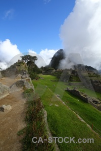 Grass south america machu picchu stone unesco.
