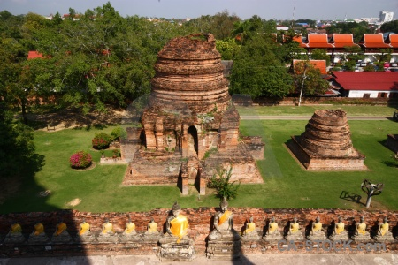 Grass unesco temple wat yai chai mongkhon buddhist.