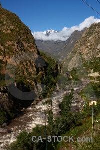 Grass valley mountain urubamba river peru.