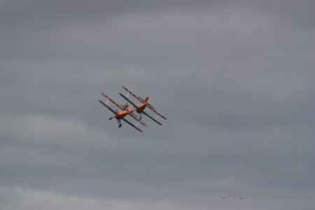 Gray airplane.