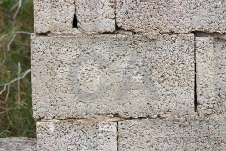 Gray brick texture.