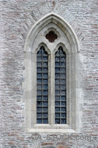 Gray building castle window.