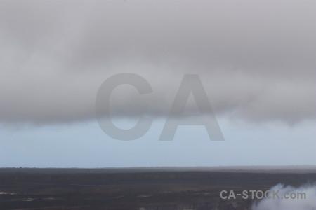 Gray crater smoke volcanic.