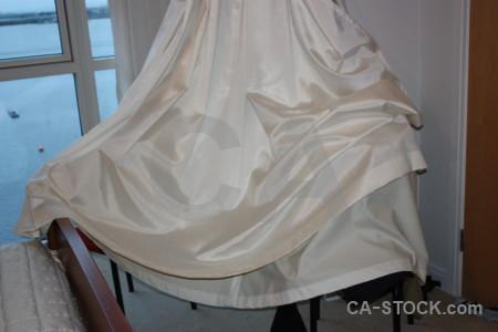 Gray curtain cloth object.