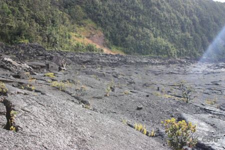 Gray lava crater volcanic.