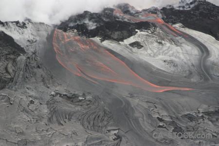 Gray lava volcanic.