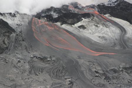 Gray lava volcanic smoke.