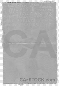 Gray paper texture card transparent.