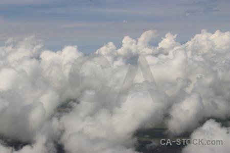 Gray sky above cloud.
