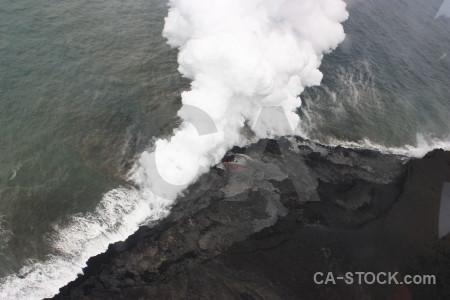 Gray volcanic lava white.