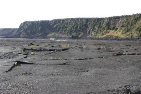 Gray volcanic white lava crater.