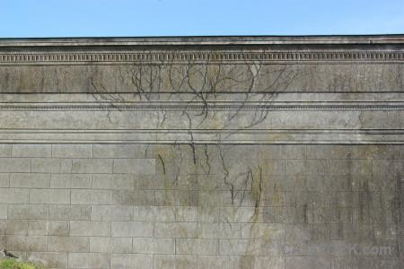 Gray wall.
