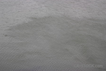 Gray water sea surface.