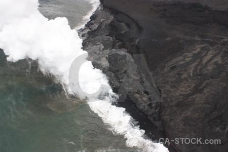 Gray white volcanic lava.