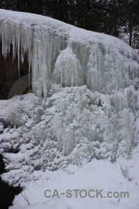 Gray winter snow icicle.