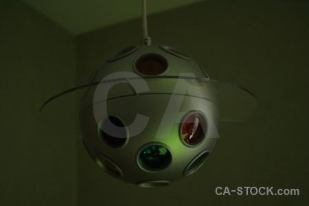Green black lamp object.