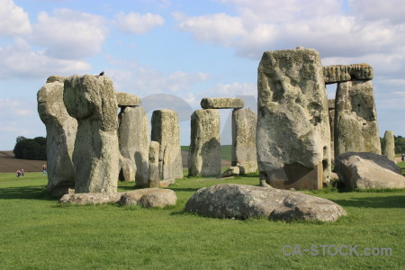 Green grass stonehenge wiltshire uk.