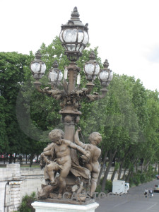 Green lamp post white.