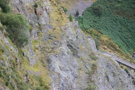 Green mountain rock.