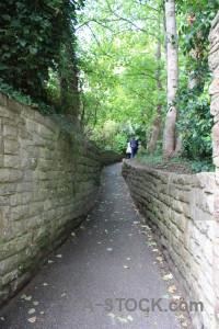 Green path wall.