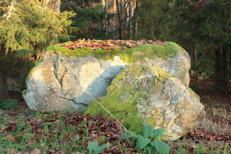 Green rock.