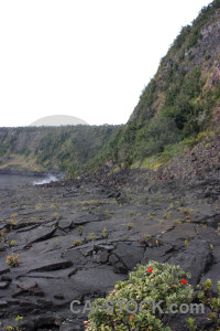 Green volcanic lava white.