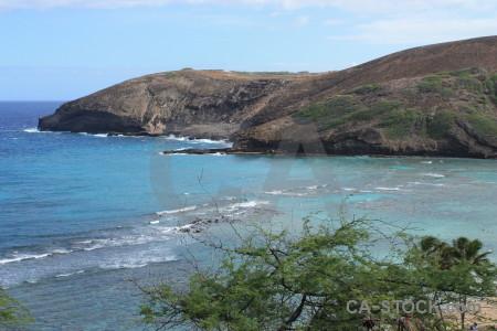 Green water blue coast sea.