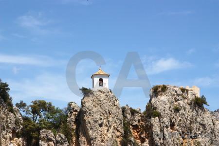 Guadalest blue europe rock spain.