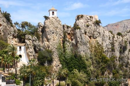Guadalest europe rock green spain.
