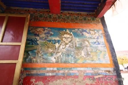 Gyantse monastery shekar tibet east asia.
