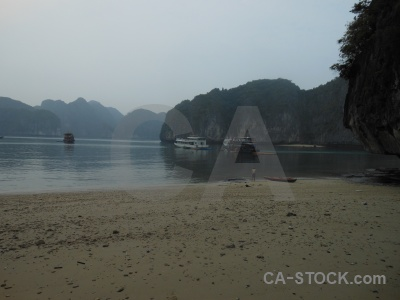 Ha long bay sky mountain asia water.