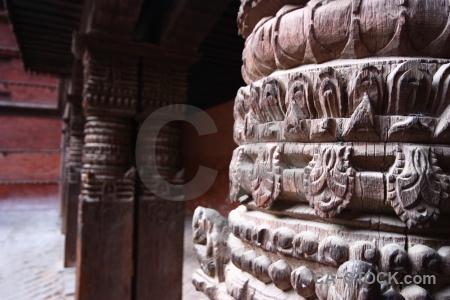 Hanuman column durbar square unesco asia.