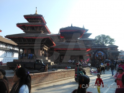 Hanuman durbar square temple kal bhairab unesco.