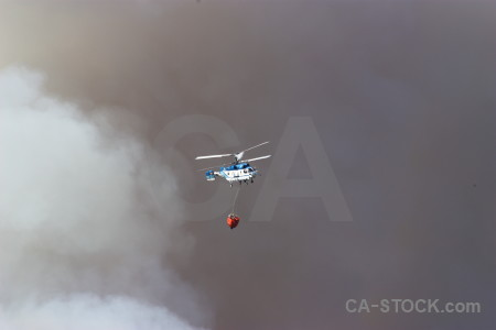 Helicopter spain smoke montgo fire europe.