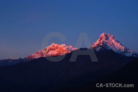 Himalayan annapurna south trek snow mountain.