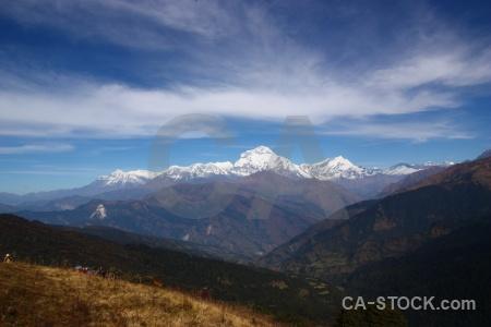 Himalayan cloud asia tukche peak landscape.