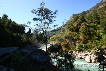 Himalayan modi river nepal mountain sky.
