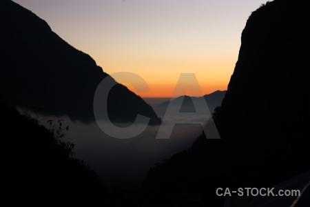 Himalayan mountain modi khola valley sunset trek.