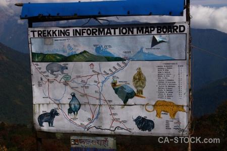 Himalayan nepal map trek asia.