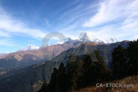 Himalayan snow snowcap sky annapurna sanctuary trek.