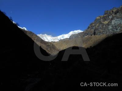 Himalayan trek snow sky annapurna sanctuary.