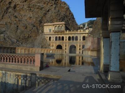 Hindu jaipur reflection sky south asia.