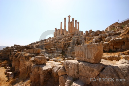 Historic gerasa middle east ancient ruin.