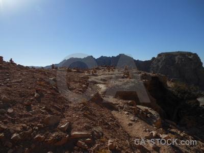 Historic petra archaeological unesco rock.