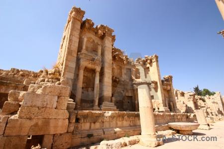 Historic pillar sky asia ruin.