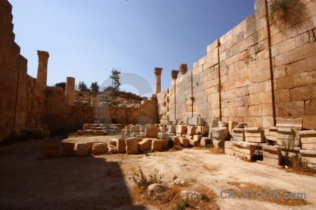 Historic roman ancient archaeological jordan.